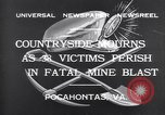 Image of mine workers killed Boissevain Virginia USA, 1932, second 10 stock footage video 65675035144