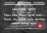Image of motor cars with sails Abu-Sueir Egypt, 1932, second 1 stock footage video 65675035146