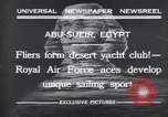 Image of motor cars with sails Abu-Sueir Egypt, 1932, second 2 stock footage video 65675035146