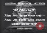 Image of motor cars with sails Abu-Sueir Egypt, 1932, second 5 stock footage video 65675035146