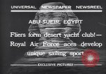 Image of motor cars with sails Abu-Sueir Egypt, 1932, second 6 stock footage video 65675035146