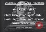 Image of motor cars with sails Abu-Sueir Egypt, 1932, second 8 stock footage video 65675035146