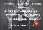 Image of wreckage due to fire Penns Grove New Jersey USA, 1932, second 2 stock footage video 65675035147