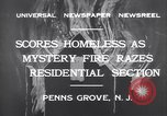 Image of wreckage due to fire Penns Grove New Jersey USA, 1932, second 5 stock footage video 65675035147
