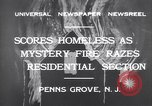 Image of wreckage due to fire Penns Grove New Jersey USA, 1932, second 7 stock footage video 65675035147