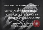 Image of World War I veterans benefits Zanesville Ohio USA, 1932, second 3 stock footage video 65675035149