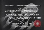 Image of World War I veterans benefits Zanesville Ohio USA, 1932, second 4 stock footage video 65675035149