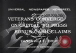 Image of World War I veterans benefits Zanesville Ohio USA, 1932, second 5 stock footage video 65675035149