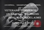 Image of World War I veterans benefits Zanesville Ohio USA, 1932, second 11 stock footage video 65675035149