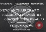 Image of antiaircraft gun Fort Monroe Virginia USA, 1932, second 1 stock footage video 65675035153