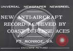 Image of antiaircraft gun Fort Monroe Virginia USA, 1932, second 5 stock footage video 65675035153