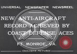Image of antiaircraft gun Fort Monroe Virginia USA, 1932, second 6 stock footage video 65675035153
