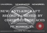 Image of antiaircraft gun Fort Monroe Virginia USA, 1932, second 9 stock footage video 65675035153