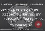 Image of antiaircraft gun Fort Monroe Virginia USA, 1932, second 10 stock footage video 65675035153