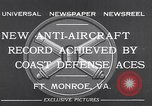 Image of antiaircraft gun Fort Monroe Virginia USA, 1932, second 11 stock footage video 65675035153