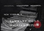 Image of James John Walker New York United States USA, 1932, second 1 stock footage video 65675035159
