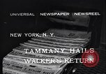 Image of James John Walker New York United States USA, 1932, second 2 stock footage video 65675035159