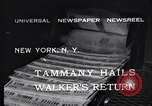 Image of James John Walker New York United States USA, 1932, second 4 stock footage video 65675035159