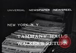 Image of James John Walker New York United States USA, 1932, second 7 stock footage video 65675035159