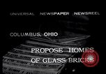 Image of glass bricks Columbus Ohio USA, 1932, second 1 stock footage video 65675035160