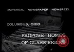 Image of glass bricks Columbus Ohio USA, 1932, second 3 stock footage video 65675035160