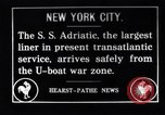 Image of SS Adriatic New York City USA, 1917, second 1 stock footage video 65675035176