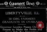 Image of Governor Lowden visits women farm workers during war Libertyville Illinois USA, 1917, second 1 stock footage video 65675035188