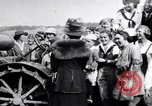 Image of Governor Lowden visits women farm workers during war Libertyville Illinois USA, 1917, second 2 stock footage video 65675035188