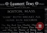Image of Babe Ruth Boston Massachusetts USA, 1919, second 1 stock footage video 65675035193