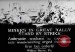 Image of coal mine workers on strike Wilkes-Barre Pennsylvania USA, 1919, second 4 stock footage video 65675035195