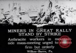 Image of coal mine workers on strike Wilkes-Barre Pennsylvania USA, 1919, second 5 stock footage video 65675035195