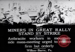 Image of coal mine workers on strike Wilkes-Barre Pennsylvania USA, 1919, second 6 stock footage video 65675035195