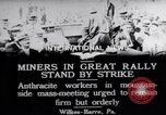 Image of coal mine workers on strike Wilkes-Barre Pennsylvania USA, 1919, second 7 stock footage video 65675035195
