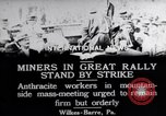 Image of coal mine workers on strike Wilkes-Barre Pennsylvania USA, 1919, second 9 stock footage video 65675035195
