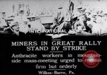 Image of coal mine workers on strike Wilkes-Barre Pennsylvania USA, 1919, second 10 stock footage video 65675035195