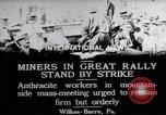 Image of coal mine workers on strike Wilkes-Barre Pennsylvania USA, 1919, second 11 stock footage video 65675035195