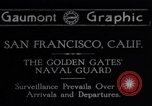 Image of Golden Gate Naval guards in World War 1 San Francisco California USA, 1917, second 1 stock footage video 65675035197