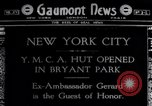 Image of Ambassador Gerard opens YMCA Eagle Hut New York City USA, 1918, second 1 stock footage video 65675035201