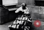 Image of Woman sews Allied flag blanket for Pershing birthday Chicago Illinois USA, 1917, second 3 stock footage video 65675035206