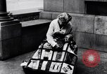 Image of Woman sews Allied flag blanket for Pershing birthday Chicago Illinois USA, 1917, second 5 stock footage video 65675035206