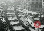 Image of troops march on the streets New York City USA, 1917, second 2 stock footage video 65675035260