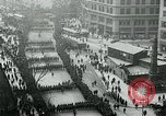 Image of troops march on the streets New York City USA, 1917, second 8 stock footage video 65675035260
