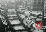 Image of troops march on the streets New York City USA, 1917, second 9 stock footage video 65675035260