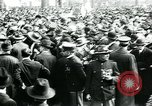 Image of troops march on the streets New York City USA, 1917, second 10 stock footage video 65675035260