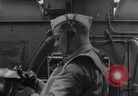 Image of navigator with sextant Pacific Ocean, 1942, second 2 stock footage video 65675035342