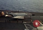 Image of F 4J plane Gulf of Tonkin Vietnam, 1970, second 12 stock footage video 65675035359
