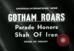 Parade to welcome Shah of Iran, Mohammad Reza Shah Pahlavi and his wife, during his visit in New York City.