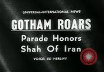 Image of Shah of Iran New York City USA, 1962, second 3 stock footage video 65675035413