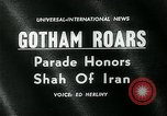 Image of Shah of Iran New York City USA, 1962, second 4 stock footage video 65675035413