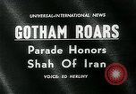 Image of Shah of Iran New York City USA, 1962, second 5 stock footage video 65675035413